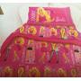 Acolchado Barbie Fashionista Plaza 1 Y 1/2 Piñata