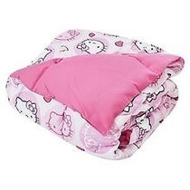 Hello Kitty Acolchado Doble Faz 1 Plaza Y 1/2 Original