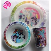 My Little Pony Set Bazar - Plato + Vaso + Bowl Original!