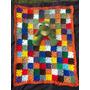 Cubrecama Manta De Bebe En Crochet..super Colorida!