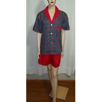 Pijama Corto Algodón Y Poliester Lencería Microcentro