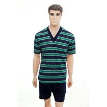 Pijama De Hombre Verano Algodon Escote V Talle 54, 56, 58 60