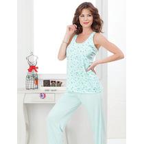 Pijama Dama 3 Piezas Con Bata- Bianca Secreta
