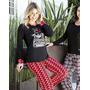 Pijama Algodón Con Estampa - Bianca Secreta