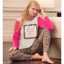 Lody Pijama De Invierno. C/calza Animal. Ropa Interior Pao