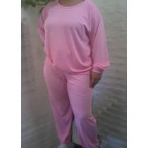 Pijama Dama Modal Con Lycra Buzo Babucha Con Cintura Ancha