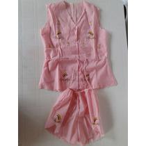 Pijama Bordado De Nena, Sin Uso