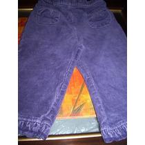 Pantalón Niña Talle 12 Meses Corderoy Elastizado