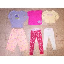 Lote 6 Prendas Carters Old Navy Pijamas Remeras Calzas Nena