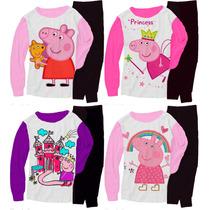 Pijama Manga Larga De Peppa Pig T2 Al T12 Malatan