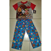 Pijama Remera M/c + Pantalon Angry Birds T. 6/7 Importado