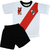 Equipo Pijama River Plate Oficial Remera Club Niños Futbol