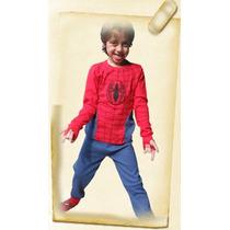 Pijamas De Invierno Para Niños Con Luz Led. Hombre Araña
