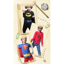 Pijamas De Invierno Para Chicos Con Luz Led. Super Heroe