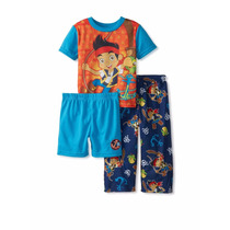Pijamas Varon 3 Piezas Disney Cars Jake Mickey Importados