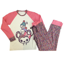 Pijama De Niña Cupcake Coral Luz De Mar Dreams