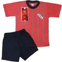 Pijama Club Independiente Futbol Niños Oficial Equipo Remera