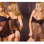 Baby Doll Y Tanga. Mordisco 716 Animal Print C/encaje.