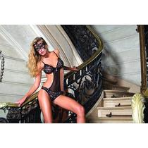 Body Playboy Intimates Red Kiss Blanco C/antifaz T. 3 Envios