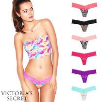 Lace Thong Tanga Encaje Victorias Secret Pink Nuevas!