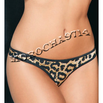 Mordisco Tanga Art 14 Cola Less Clasica Lycra Animal Print