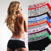 Boxer Calvin Klein Mujer Clasico Varios Colores