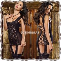 Babydoll Sexy De Encaje - Lencería 50 Sombras