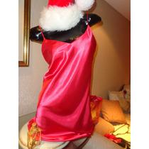 Baby Doll Camisolin Vestido Raso De Seda Colorado Rojo !