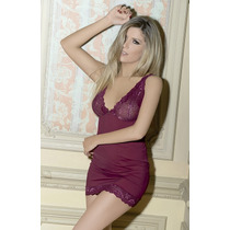 Camisolines Sexy Baby Doll Puntilla Microfibra Tull Kaury