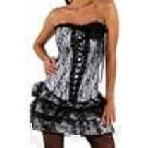 Vestido Corset Gotico Oferta Talle Talle M Blanco