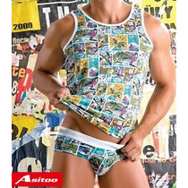 Asitoo Briefs Cartoon Comics - Modal / Spandex -