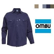 Camisa De Trabajo Ombu Azul Talle 50/51 Nuevas
