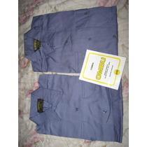 Camisa De Trabajo Ombu Azul T.38 / 39 Oferta !!!!