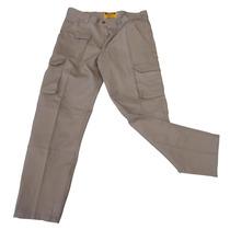 Pantalón Trabajo Cargo Reforzado Gaucho Talles 48 A 54 Beige