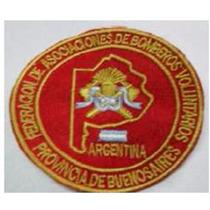 Escudos Bordados Federacion Bs As Para Bomberos