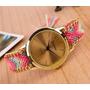 Reloj Pulsera Acero Mujer Tejido!! Combo X 10 Unidades