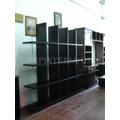 Biblioteca Cubos 187x30x177cm Wengue / Carpinteria Dm