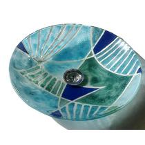 Bacha De Vidrio De Baño 36 Cm Con Perforación Vitrofusión
