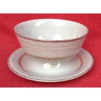 Unica Salsera Con Presentoire De Porcelana Danesa Fuglevad