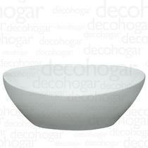 Bacha Apoyo Sobre Mesada Ceramica Loza Ovalada Baño Blanca