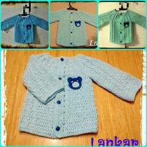 Saquitos Para Bebe, Abrigo Crochet. Tejido Artesanal!!