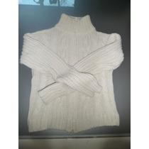 Sweater Lana Muy Abrigado Con Cierre Escondido Como Nuevo!!