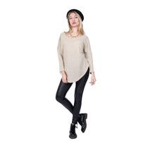 Sweter Lurex,combinado Con Cuero Y Terciopelo ,4 Talles
