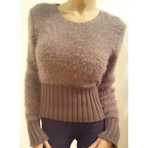 Sweater, Pulover Corto Piel De Mono Con Elastico
