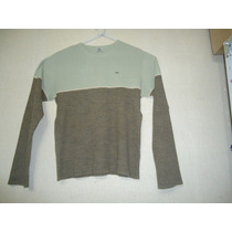 Sweater Lacoste Beige Con Marron Talle 48