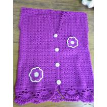 Chaleco Tejido Al Crochet De Invierno Para Nena De 10 Años