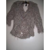 Saco Mujer Tejido Crochet Talle Unico, Ver Medidas