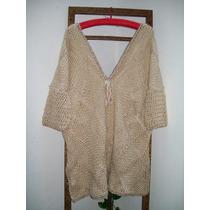 Sweters De Lana Merino Y Seda Tejido En Telar Y Crochet
