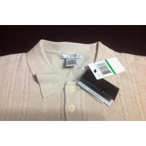 Sweater De Hombre Cuello Polo Semiabotonado Importado De Usa