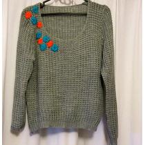 Sweater Saco Bordado, Artículo Nuevo